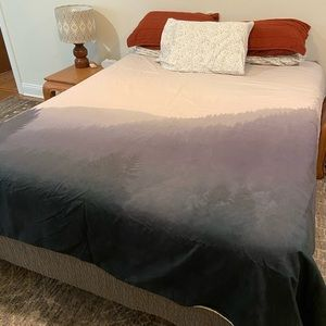 Urban outfitters foggy forest duvet cover